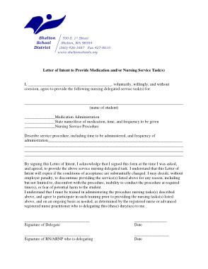 Free Download PDF Books, Nursing Service Letter of Intent Template