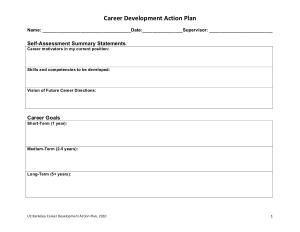 Career Development Action Plan Template