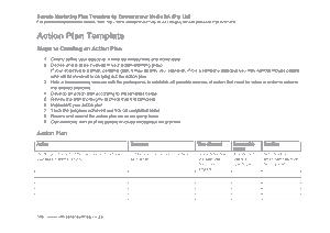 Free Download PDF Books, Marketing Action Plan Template
