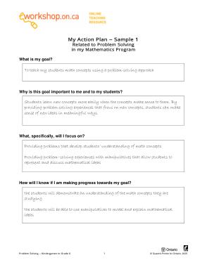 Free Download PDF Books, Mod18 Sample Action Plan Template