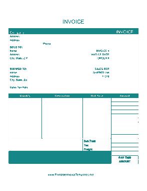 Free Download PDF Books, Billing Invoice Form Sample Template