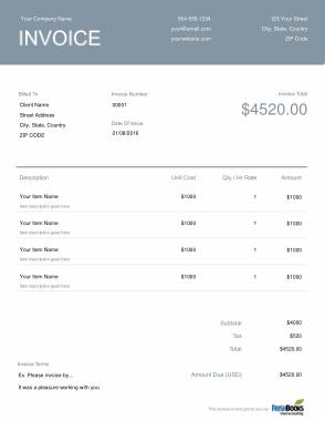 Free Download PDF Books, Generic Billing Invoice Template