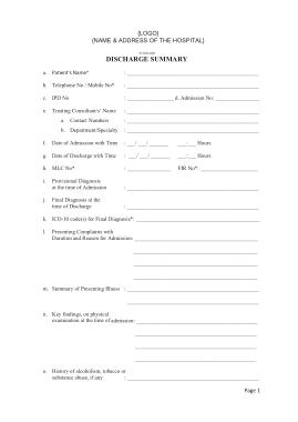 Free Download PDF Books, Hospital Billing Invoice Template