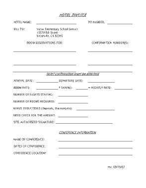 Free Download PDF Books, Hotel Bill Invoice Template
