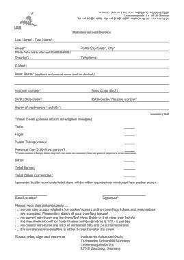 Free Download PDF Books, Hotel Reimbursement Bill Sample Template