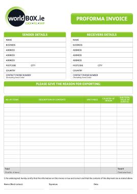 Business Proforma Invoice Template
