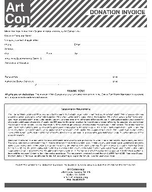 Free Download PDF Books, Donation Invoice Template