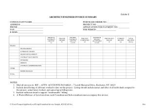 Free Download PDF Books, Consultant Invoice Sample Template