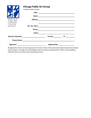 Free Download PDF Books, Contract Labor Invoice Free Template