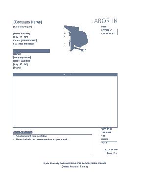 Free Download PDF Books, Contract Labor Invoice Template