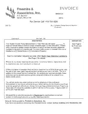 Free Download PDF Books, Service Contract Invoice Template