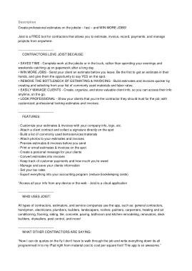 Free Download PDF Books, Contractor Estimate Invoice Template