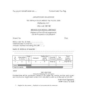 Free Download PDF Books, Contractor Final Invoice Template