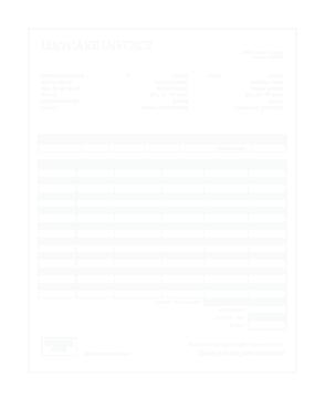 Free Download PDF Books, Daycare Invoice Template