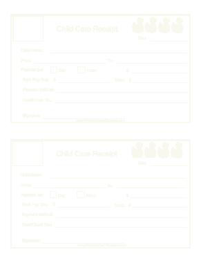 Free Download PDF Books, Sample Daycare Invoice Template