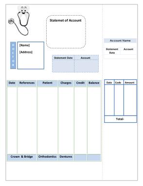 Free Download PDF Books, Editable Dental Invoice Template