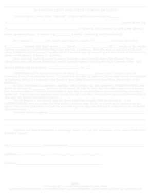 Free Download PDF Books, Rental Deposit Template