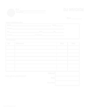 Free Download PDF Books, DJ Service Bill Template