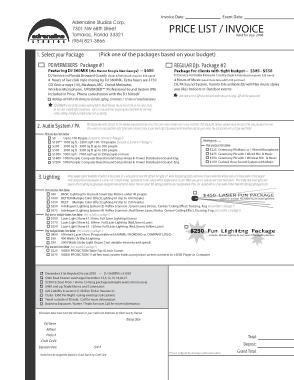 Free Download PDF Books, Dj Service Invoice Template
