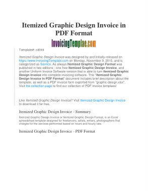 Free Download PDF Books, Freelance Graphic Design Bill Template