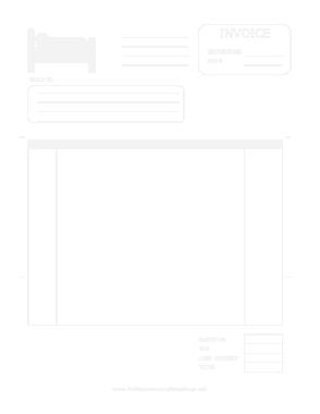 Free Download PDF Books, Hotel Invoice Template