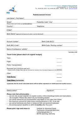 Free Download PDF Books, Hotel Reimbursement Invoice Template