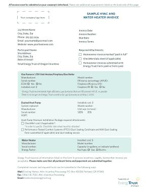 HVAC Invoice Free PDF Template