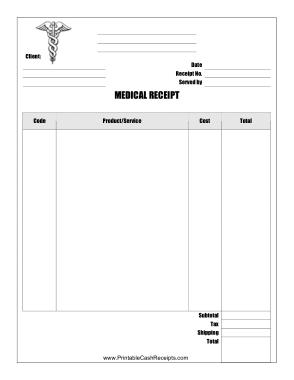 Free Download PDF Books, Free Medical Recept Sample Template