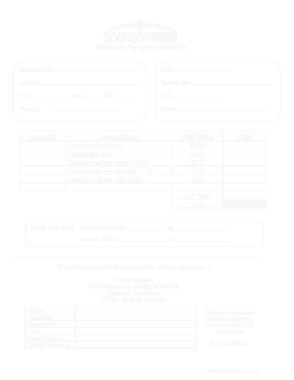 Free Download PDF Books, Printable Medical Invoice Sample Template
