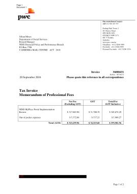 Free Download PDF Books, Professional Fee Invoice Template