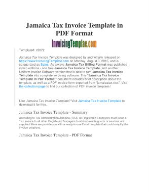 Free Download PDF Books, Professional Tax Invoice Template