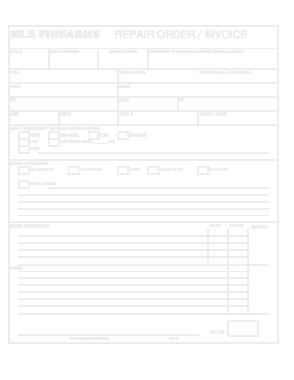 Repair Order Invoice Sample Template