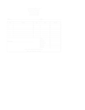 Free Download PDF Books, Editable Restaurant Invoice Free Template