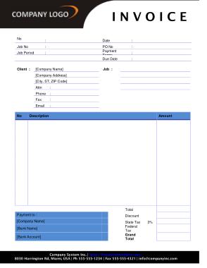 Free Download PDF Books, Graphic Design Invoice Template