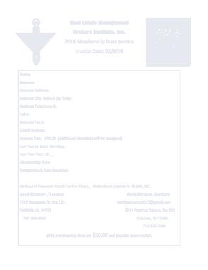 Free Download PDF Books, Membership Dues Invoice Template