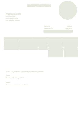 Sample Handyman Invoice Template