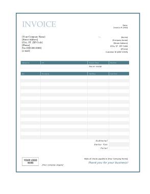 Free Download PDF Books, Free Download Service Invoice Template