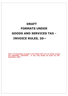 Service Tax Bill Template