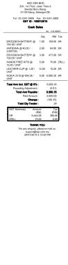 Free Download PDF Books, Cash Sales Tax Template