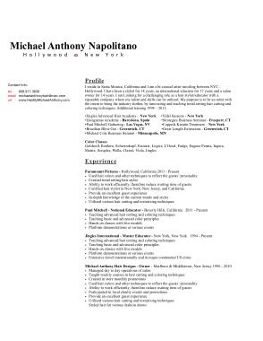 Free Download PDF Books, Master Hair Stylist CV Template