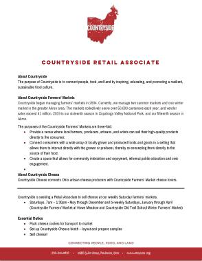 Countryside Retail Associate CV Template