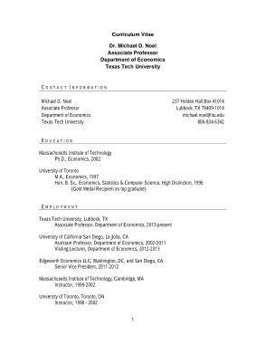 Retail CV in PDF Template