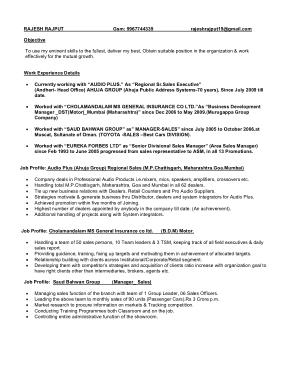 Free Download PDF Books, Retail CV Sample Template