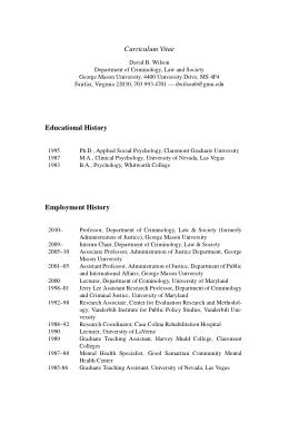 Free Download PDF Books, CV Employment History Template