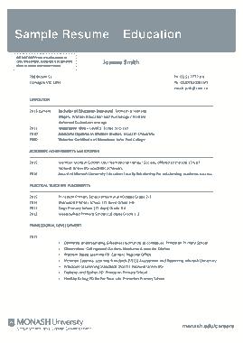 Free Download PDF Books, Free Teaching CV Template