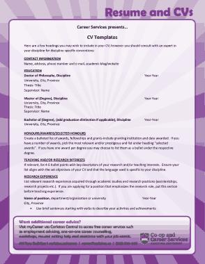 Free Download PDF Books, Simple Teaching CV Template