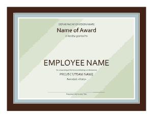 Free Download PDF Books, Employee Award Certificate Template