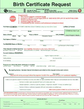 Free Download PDF Books, Birth Certificate Request Form Template