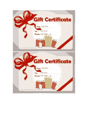 Free Printable Gift Card Sample Template