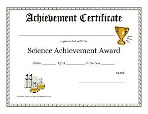 Free Download PDF Books, Achievement Certificate Template